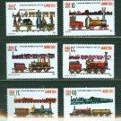 Trains set of 6 stamps + souvenir sheet mnh Japan Philatelic Expo 2011