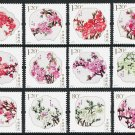 China Peach Blossoms 12 stamps mnh 2013 issue