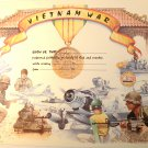 Vietnam War Certificate unused mint, from the US Naval Institute