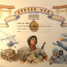 Korean War Certificate unused mint, from the US Naval Institute
