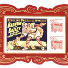 USA Circus Souvenir Sheet Imperf from press sheet