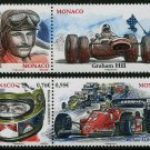 Formula One Racing 2015, two se-tenant pairs MNH Monaco