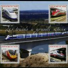 High Speed Trains mnh souvenir sheet of 4 stamps 2014 Republic of Niger