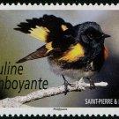 Bird stamp mnh 2015 Saint-Pierre & Miquelon Paruline Flamboyante