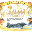 Suez Canal Certificate unused mint, from the US Naval Institute