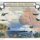 Operation Iraqi Freedom Certificate unused mint, from the US Naval Institute