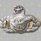 USAF Security Police Master Qualification Badge, mint