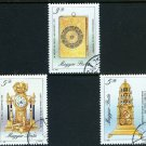 Clocks short set of 3 stamps CTO Hungary 1990