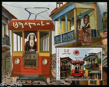Tbilisi Train Souvenir Sheet mnh Georgia 2013