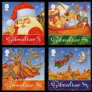 Christmas 1995 Set of 4 mnh stamps Gibraltar
