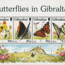 Butterflies in Gibraltar mnh Souvenir Sheet 1997