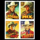 USA Singing Cowboys setenant block of 4, mnh
