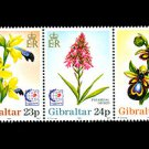 Flowers strip of 5 mnh stamps 1995 Gibraltar