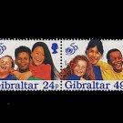 UNICEF 50th Anniversary strip of 4 mnh stamps Gibraltar 1996 Children