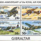 Royal Air Force 80th anniversary souvenir sheet mnh Gibraltar 1998
