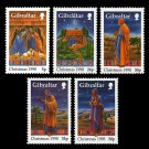 Christmas 1998 set of 5 mnh stamps Gibraltar