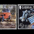 Universal Postal Union 125th Anniversary set of 2 mnh stamps 1999 Gibraltar UPU