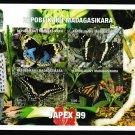 Butterflies mnh imperf souvenir sheet 1999 Madagascar