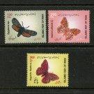 Butterflies 3 mnh stamps 2013