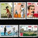 History of Cuban Baseball used set 5 stamps 1974 Scott #1930-4