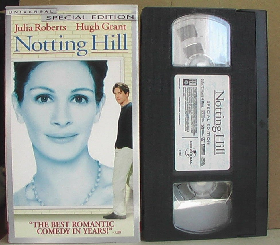 """NOTTING HILL"" VHS, Julia Roberts Hugh Grant Alec Baldwin Emma Chambers"