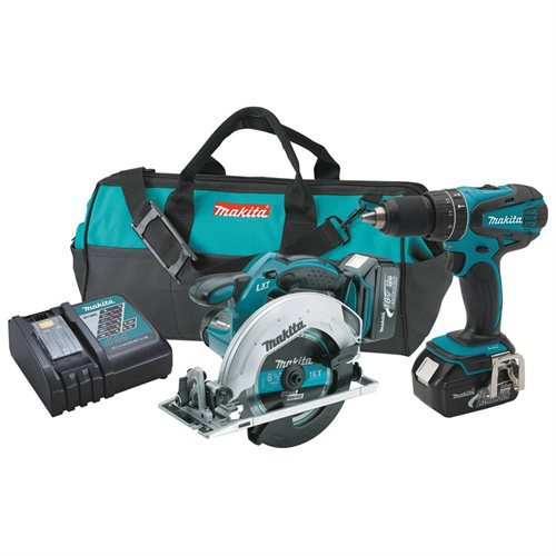 Makita XT250 LXT 18V Cordless Lithium-Ion 1/2 in. Hammer Drill Circular Saw