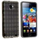 TPU Rubber Skin Case for Samsung Galaxy S i9100, Smoke Argyle