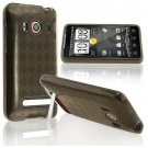 TPU Rubber Skin Case for HTC EVO 4G, Clear Smoke Argyle
