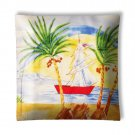 Tropical Island Sailboats #4 Ceiling Light / Lamp