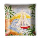 Tropical Island Sailboats #3 Ceiling Light / Lamp