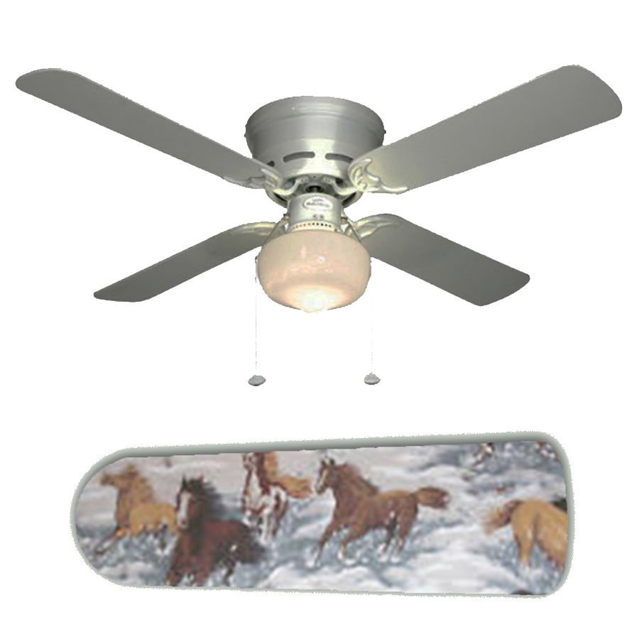 Wild Horses Western Ceiling Fan w/Light Kit or Blades Only or Ceiling Lamp