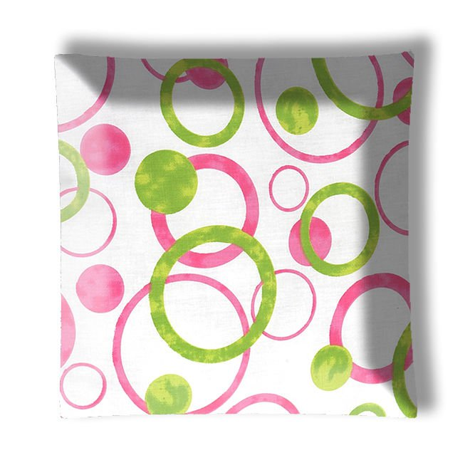 Jojo Pink and Green Circles Ceiling Light / Lamp