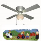 Farm Animals Nursery Ceiling Fan w/Light Kit or Blades Only