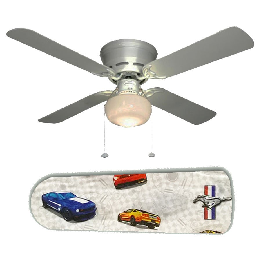 Ford Mustang Ceiling Fan w/Light Kit or Blades Only or Ceiling Lamp
