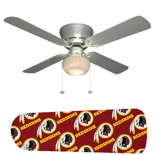 Washington Redskins Ceiling Fan w/Light Kit or Blades Only or Ceiling Lamp