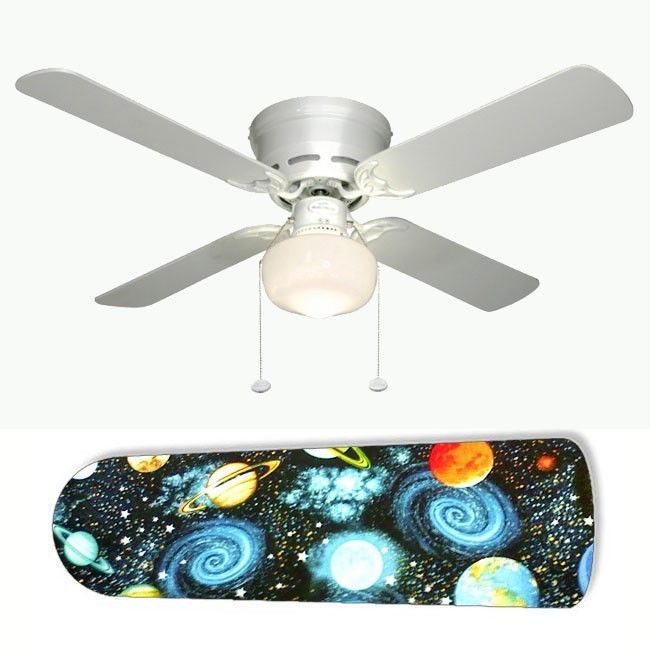 Spaced Out Outer Space Ceiling Fan w/Light Kit or Blades Only or Ceiling Lamp