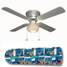 Batman Superhero Ceiling Fan w/Light Kit or Blades Only or Ceiling Lamp