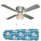 Miami Dolphins Ceiling Fan w/Light Kit or Blades Only or Ceiling Lamp