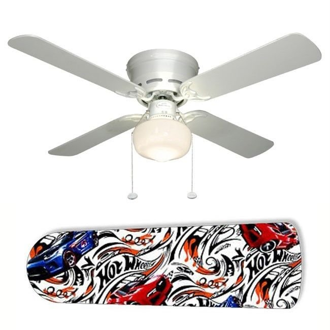 Hot Wheels Race Cars Ceiling Fan w/Light Kit or Blades Only or Ceiling Lamp