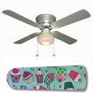 Crazy Cupcakes Kitchen/Girls Ceiling Fan w/Light or Blades Only or Ceiling Lamp