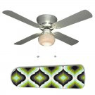Green Black Peacock Eye Ceiling Fan w/Light Kit or Blades Only or Ceiling Lamp