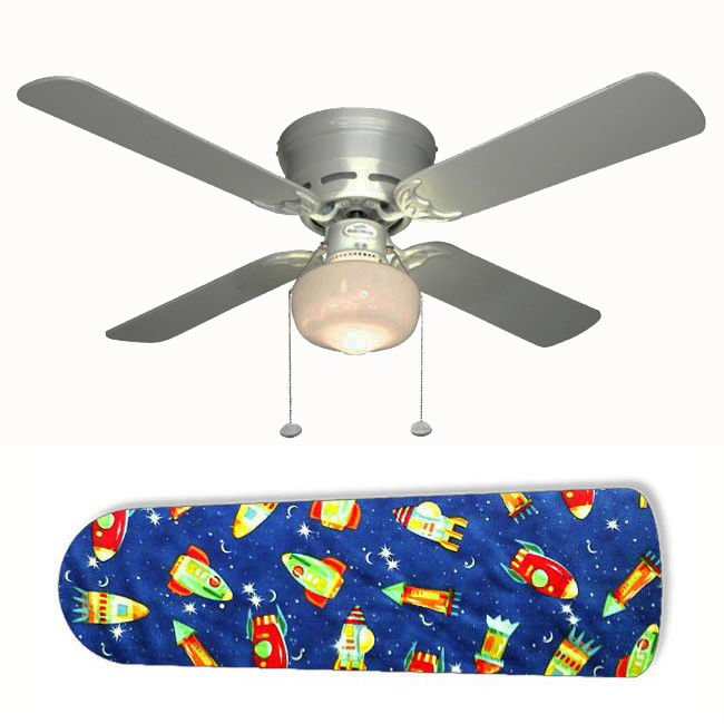 Rocket Race Outer Space Ceiling Fan w/Light Kit or Blades Only or Ceiling Lamp