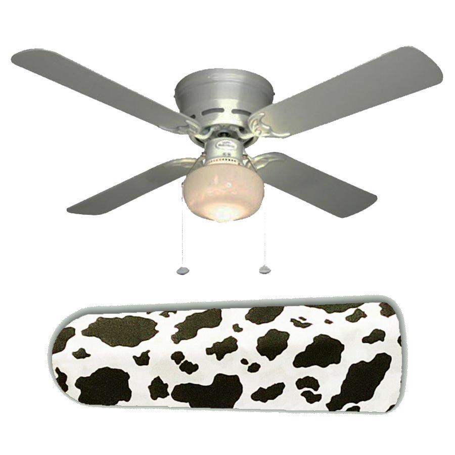Cow Hide Print Design Ceiling Fan w/light kit or blades only or ceiling lamp
