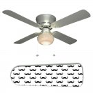 Moustache Ceiling Fan w/Light Kit or Blades Only or Ceiling Lamp