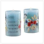 SERENITY SCENT/DRY FLOWER CANDLE 30452