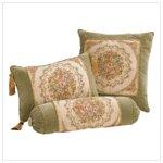 Green Velvet Cushion Set Of 3 -35744
