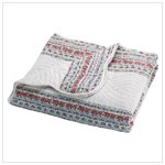 Blue Floral Quilt Cover   35043