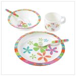 Daisy Girl's Dinnerware Set