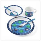 Boy's Blue Fish Dinnerware Set