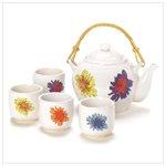 Teapot And Set Of 4 Tea Cups  41221